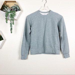 Everlane grey pullover sweatshirt long sleeve